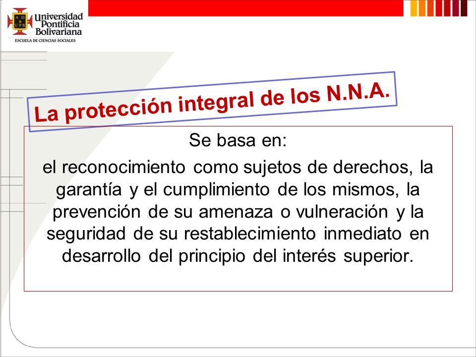 La protección integral de los N.N.A.