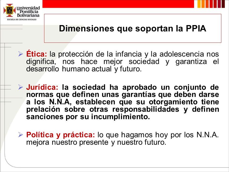 Dimensiones que soportan la PPIA