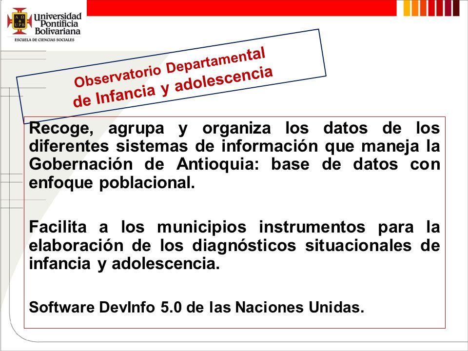 Observatorio Departamental de Infancia y adolescencia