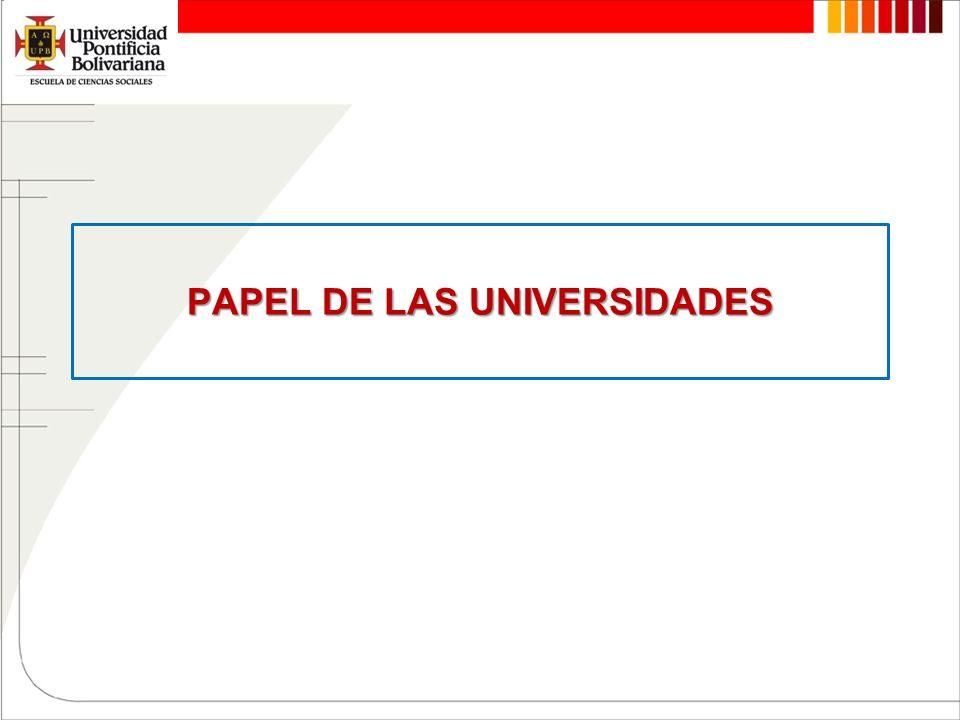 PAPEL DE LAS UNIVERSIDADES