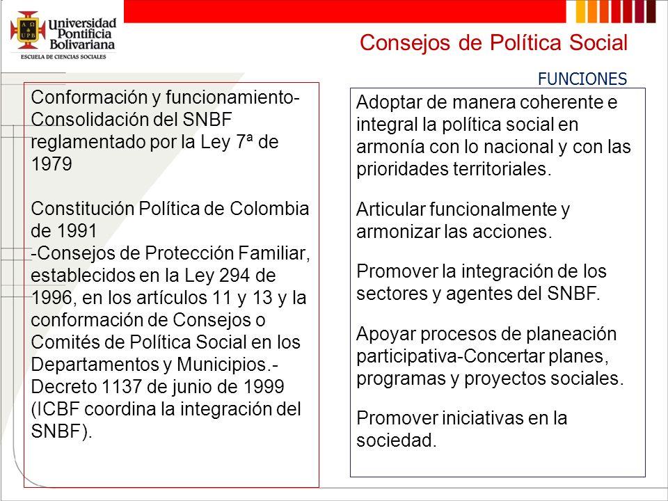 Consejos de Política Social