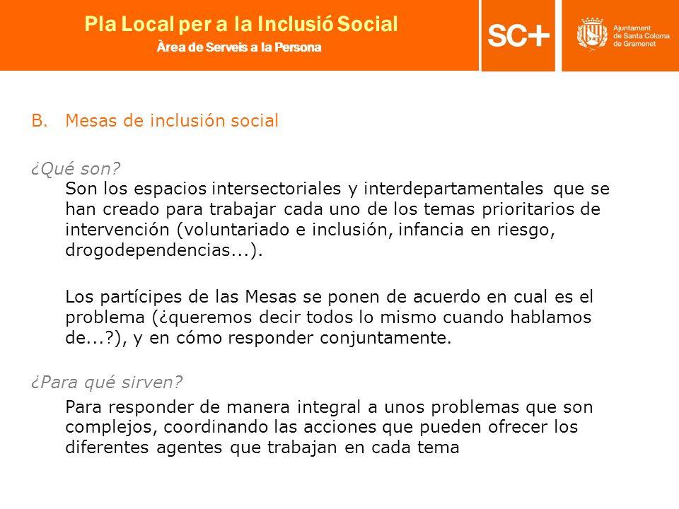 Mesas de inclusión social