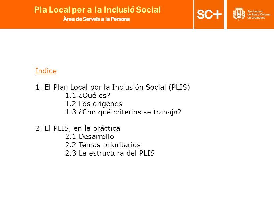 Índice 1. El Plan Local por la Inclusión Social (PLIS) 1.1 ¿Qué es.
