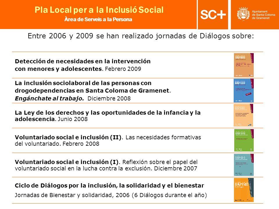 Entre 2006 y 2009 se han realizado jornadas de Diálogos sobre: