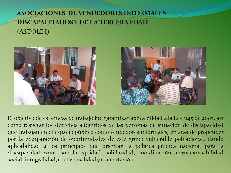 ASOCIACIONES DE VENDEDORES INFORMALES