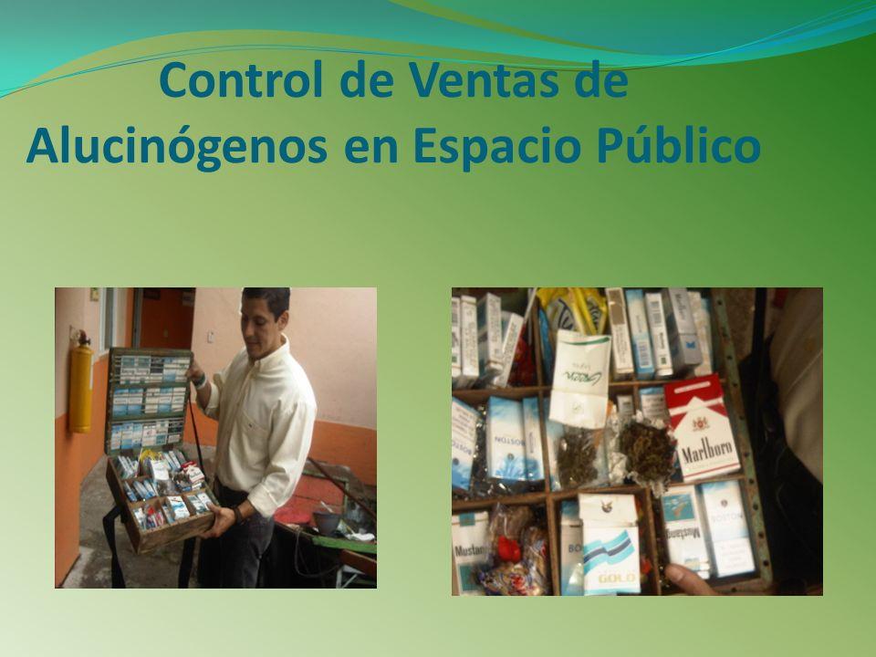 Control de Ventas de Alucinógenos en Espacio Público