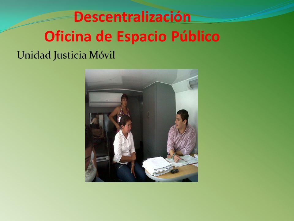 Descentralización Oficina de Espacio Público