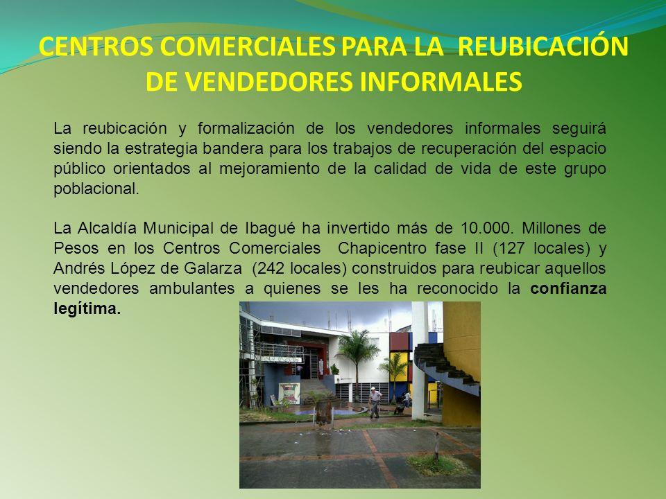 CENTROS COMERCIALES PARA LA REUBICACIÓN DE VENDEDORES INFORMALES