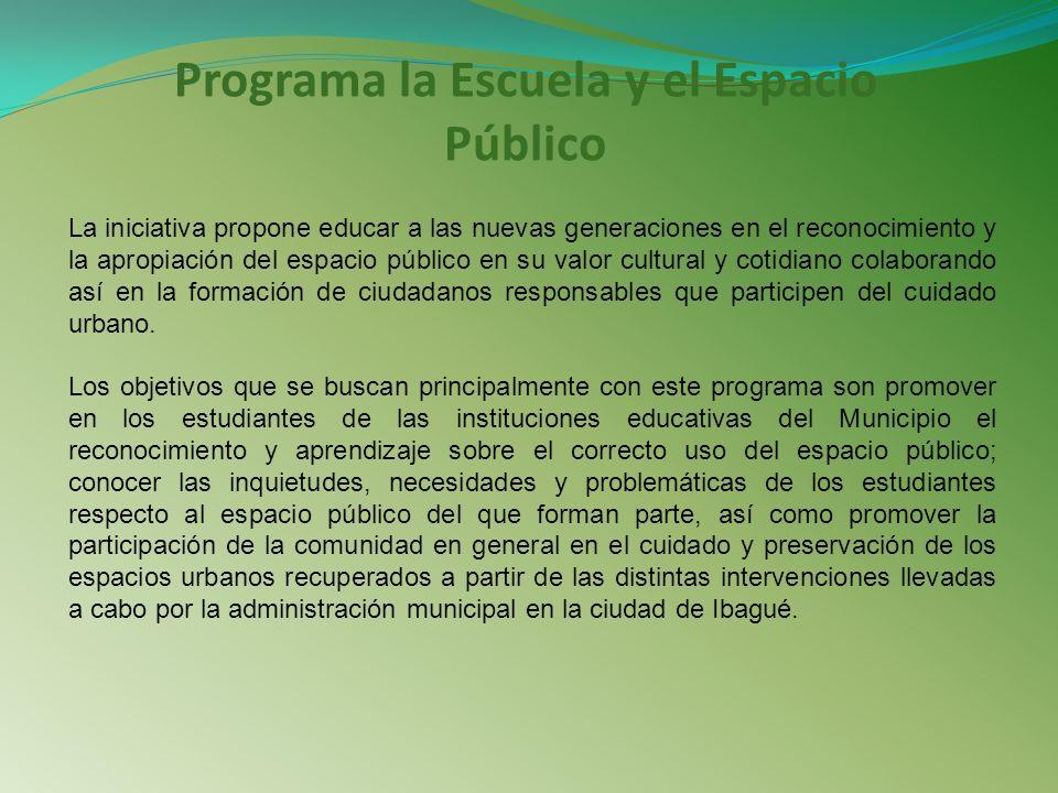 Programa la Escuela y el Espacio Público
