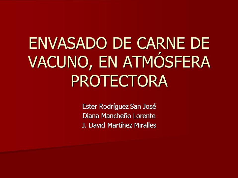 ENVASADO DE CARNE DE VACUNO, EN ATMÓSFERA PROTECTORA