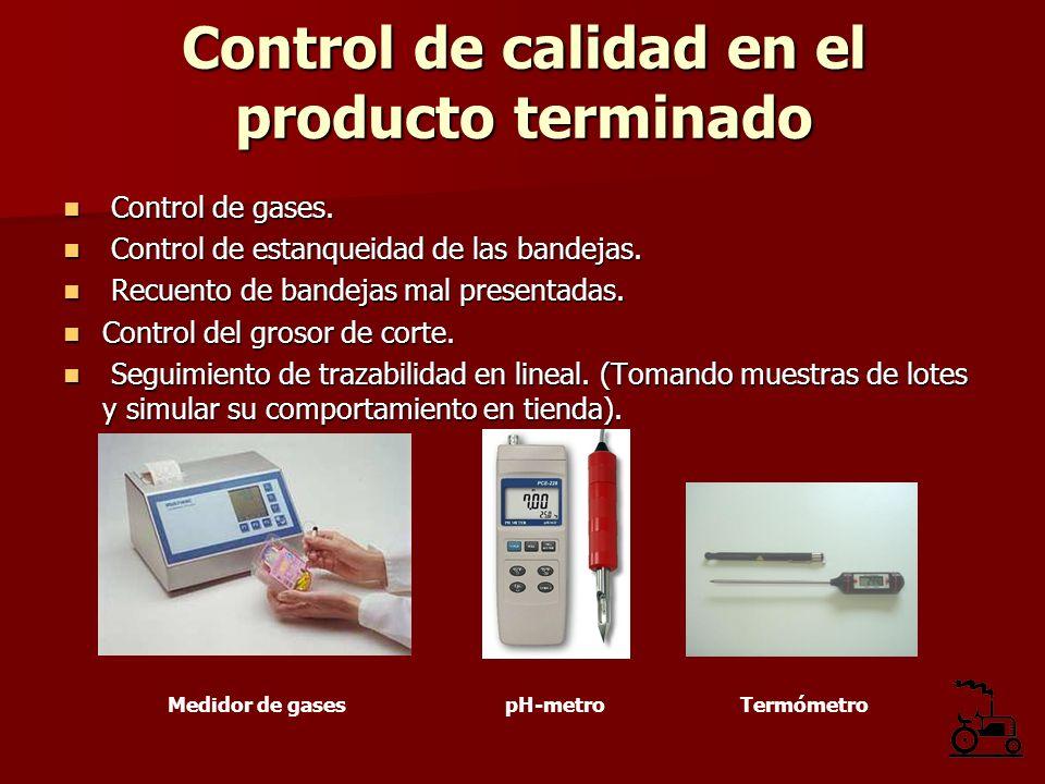Control de calidad en el producto terminado
