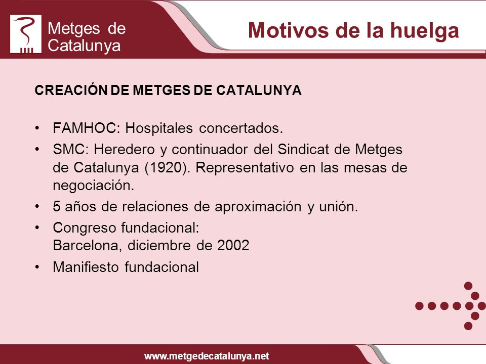 Motivos de la huelga FAMHOC: Hospitales concertados.