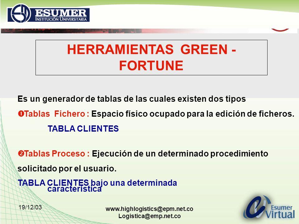 HERRAMIENTAS GREEN - FORTUNE