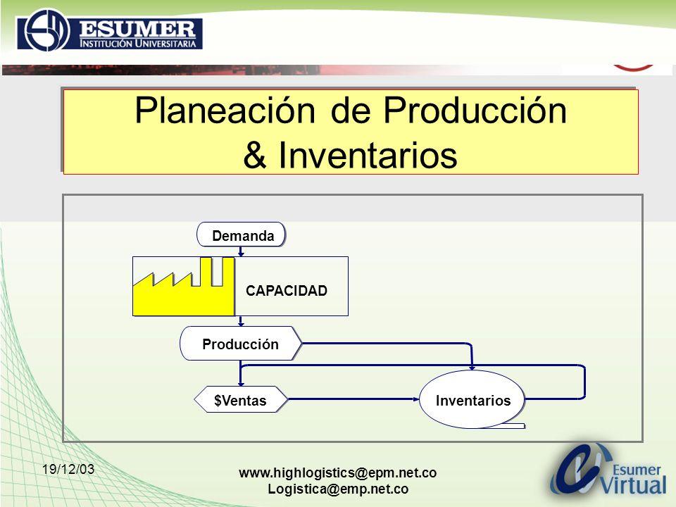 Planeación de Producción & Inventarios