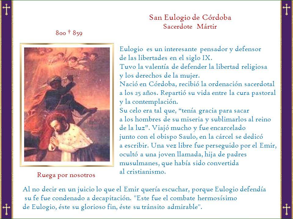San Eulogio de Córdoba Sacerdote Mártir