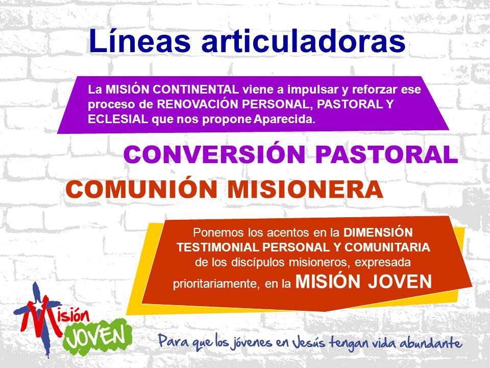 Líneas articuladoras CONVERSIÓN PASTORAL COMUNIÓN MISIONERA