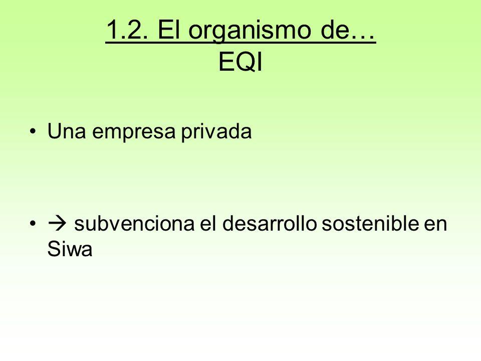 1.2. El organismo de… EQI Una empresa privada