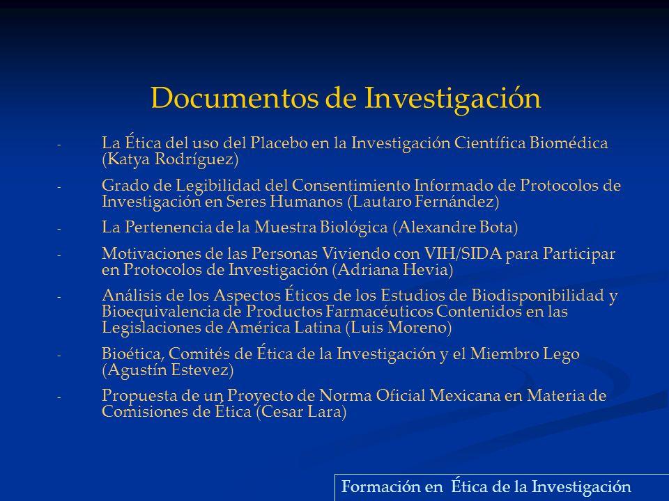 Documentos de Investigación