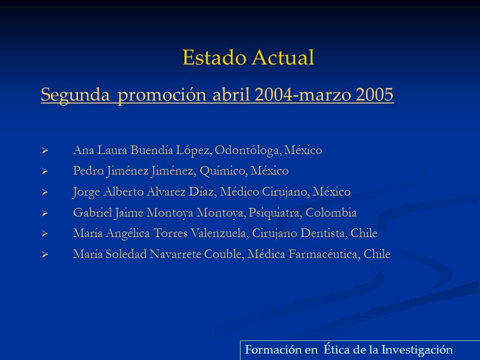 Estado Actual Segunda promoción abril 2004-marzo 2005
