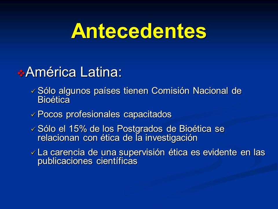 Antecedentes América Latina: