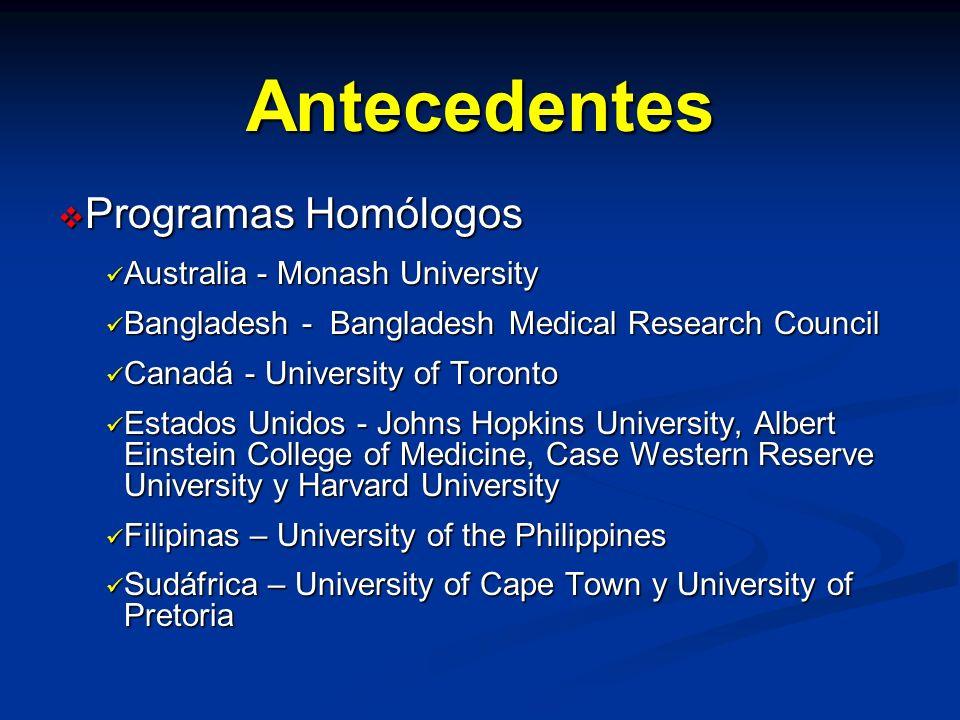 Antecedentes Programas Homólogos Australia - Monash University