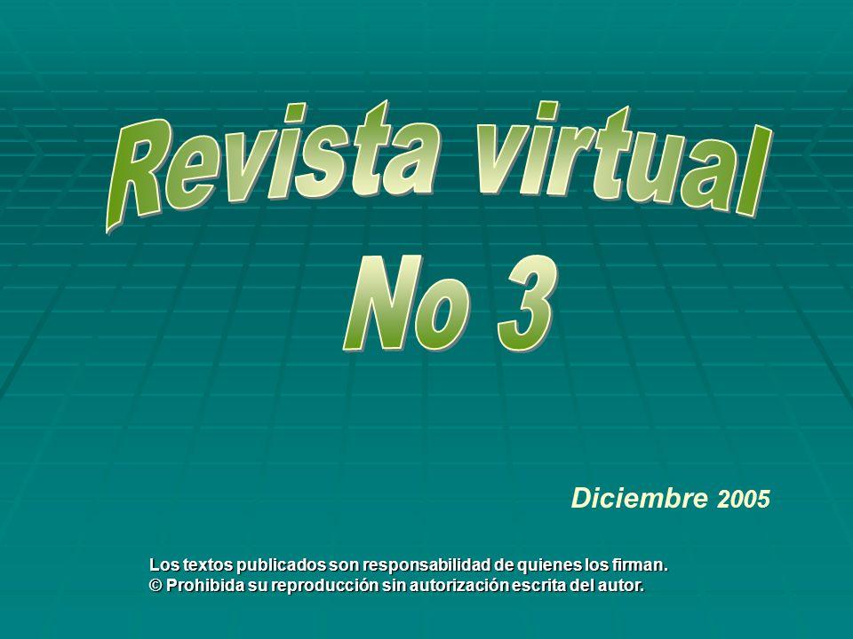 Revista virtual No 3 Diciembre 2005
