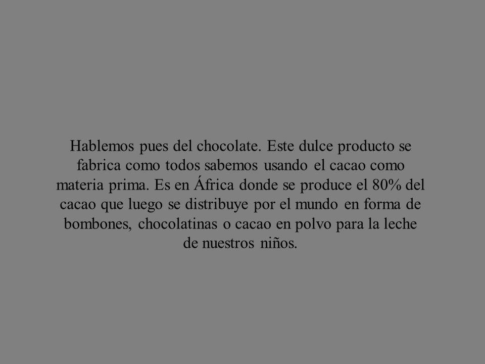 Hablemos pues del chocolate