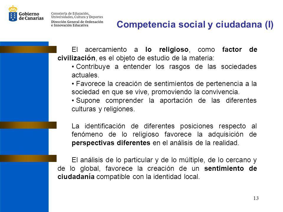 Competencia social y ciudadana (I)