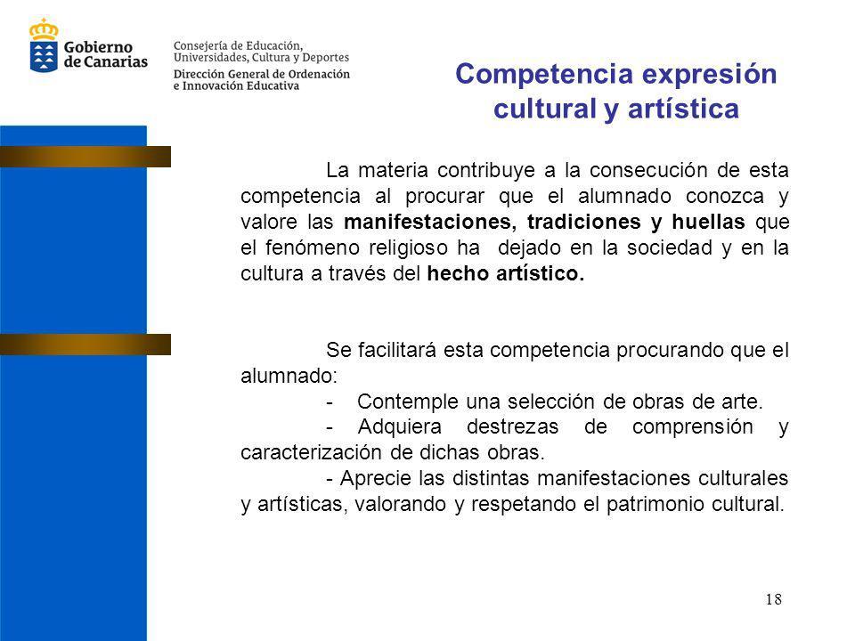 Competencia expresión cultural y artística