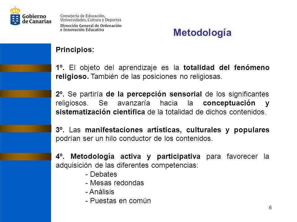 Metodología Principios: