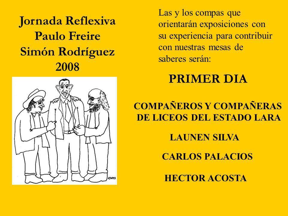 COMPAÑEROS Y COMPAÑERAS DE LICEOS DEL ESTADO LARA