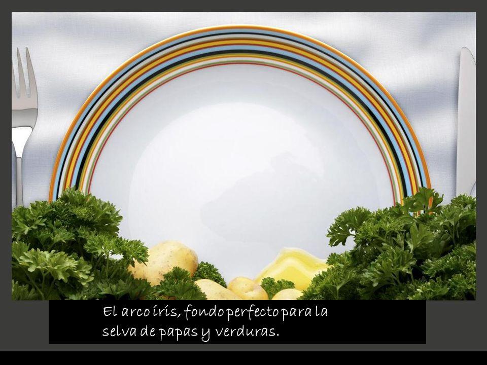 El arco íris, fondo perfecto para la