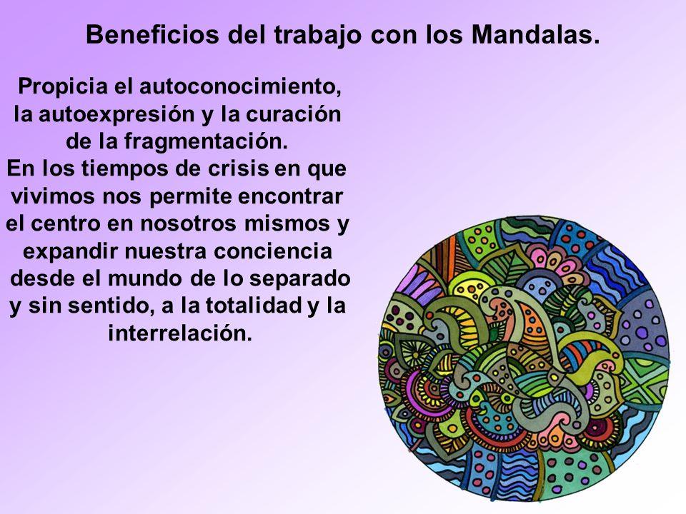 Beneficios del trabajo con los Mandalas.