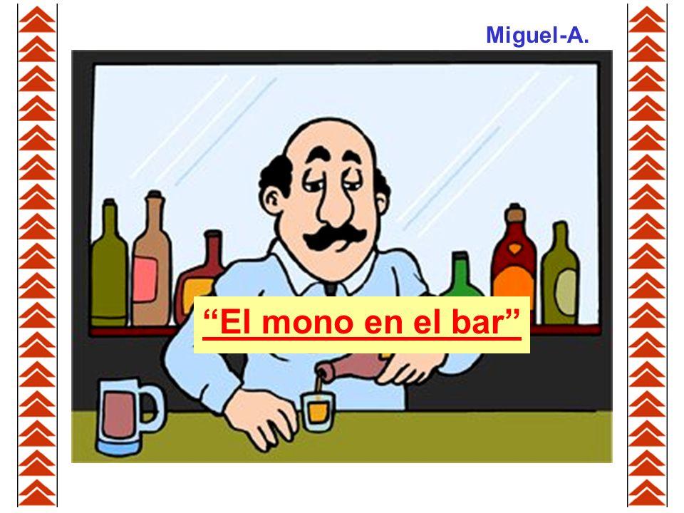 Miguel-A. El mono en el bar