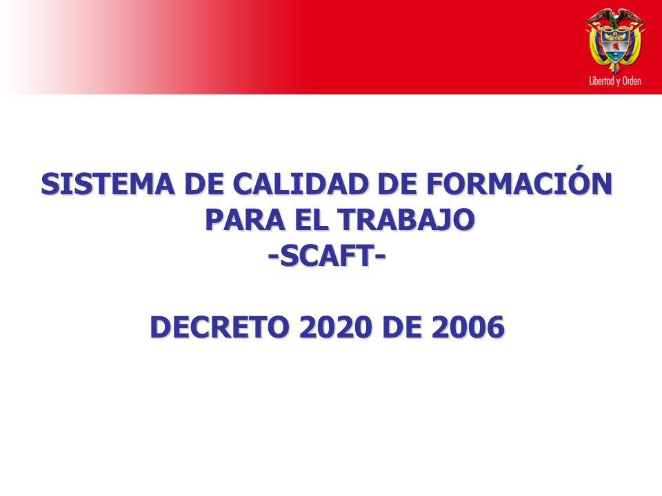 SISTEMA DE CALIDAD DE FORMACIÓN PARA EL TRABAJO