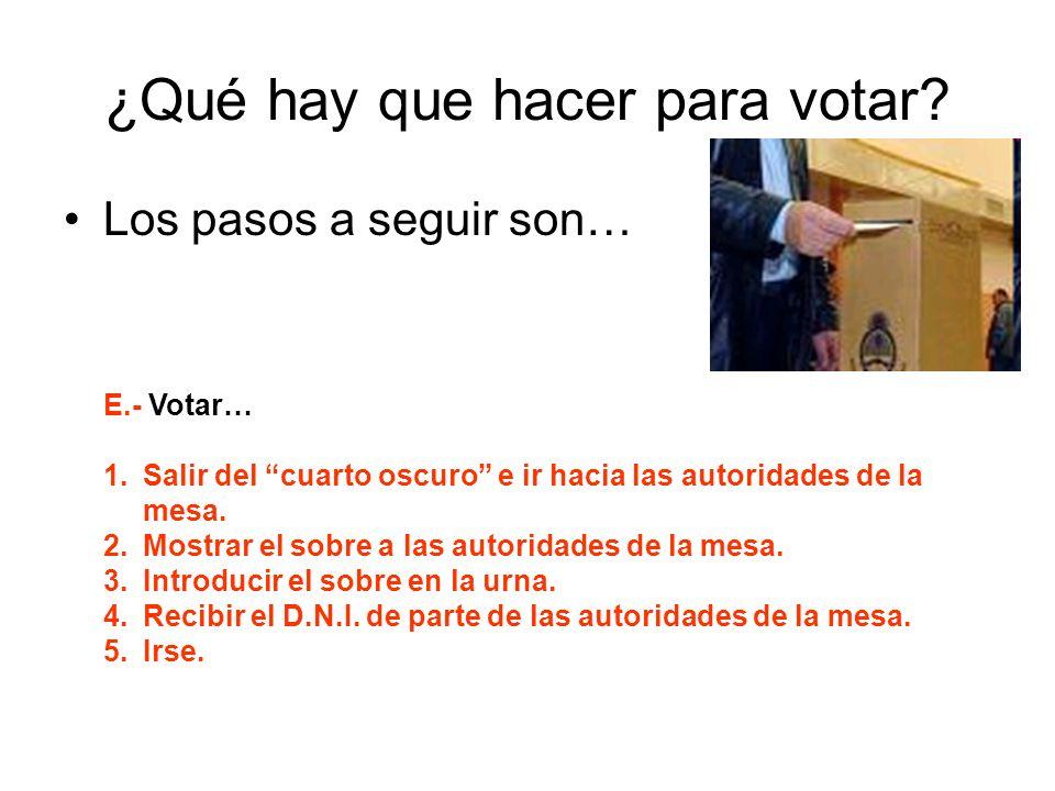 ¿Qué hay que hacer para votar