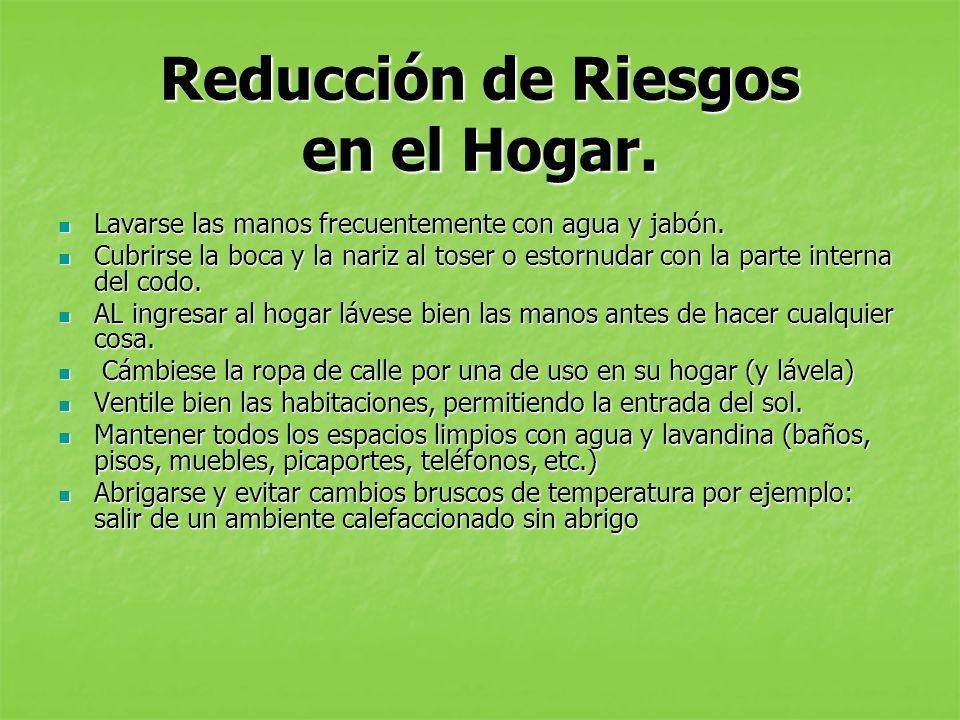 Reducción de Riesgos en el Hogar.