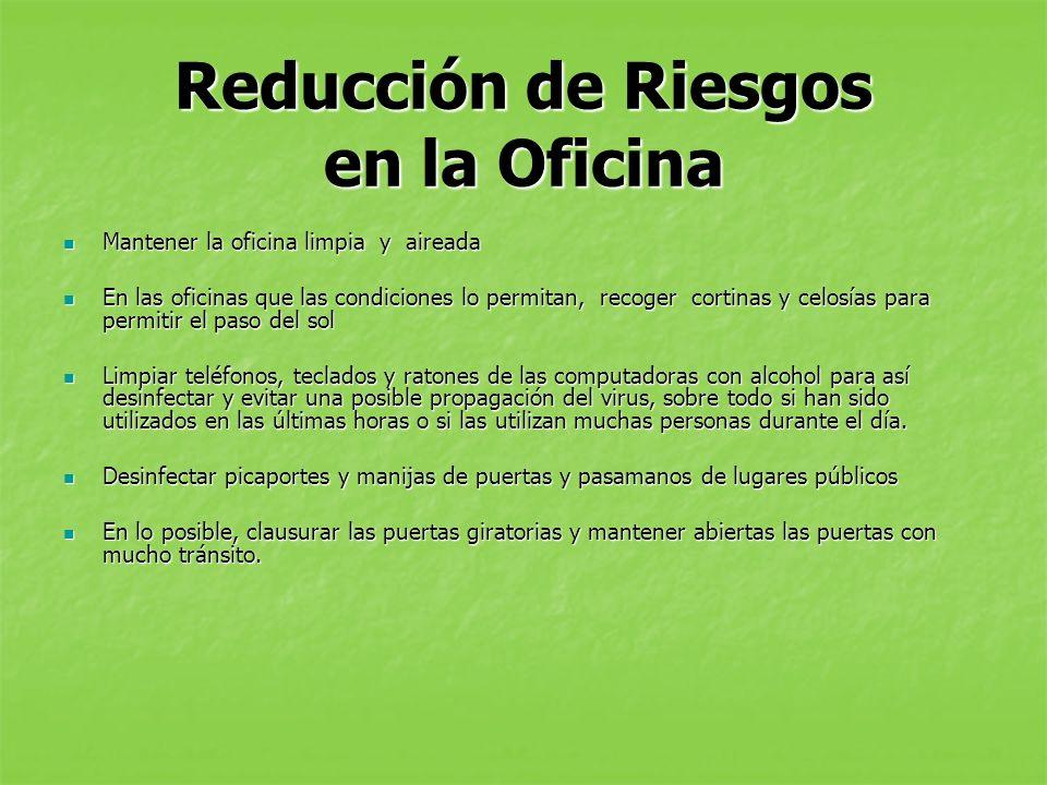 Reducción de Riesgos en la Oficina