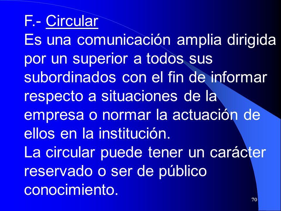 F.- Circular