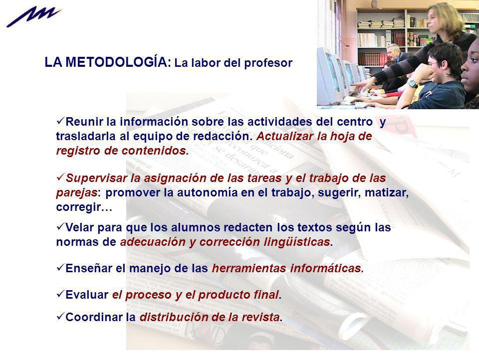 LA METODOLOGÍA: La labor del profesor