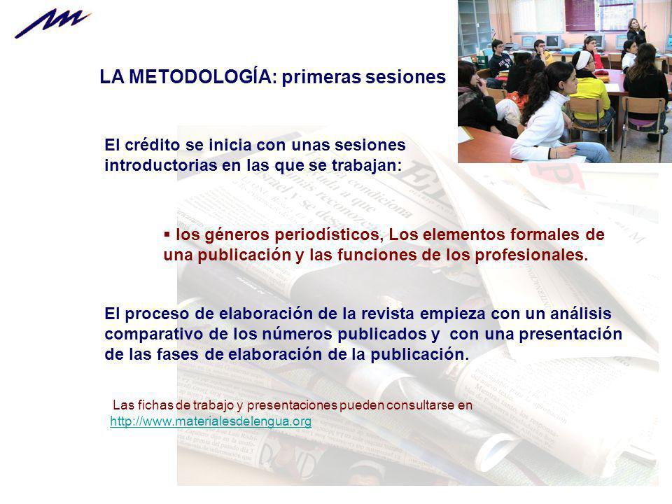 LA METODOLOGÍA: primeras sesiones