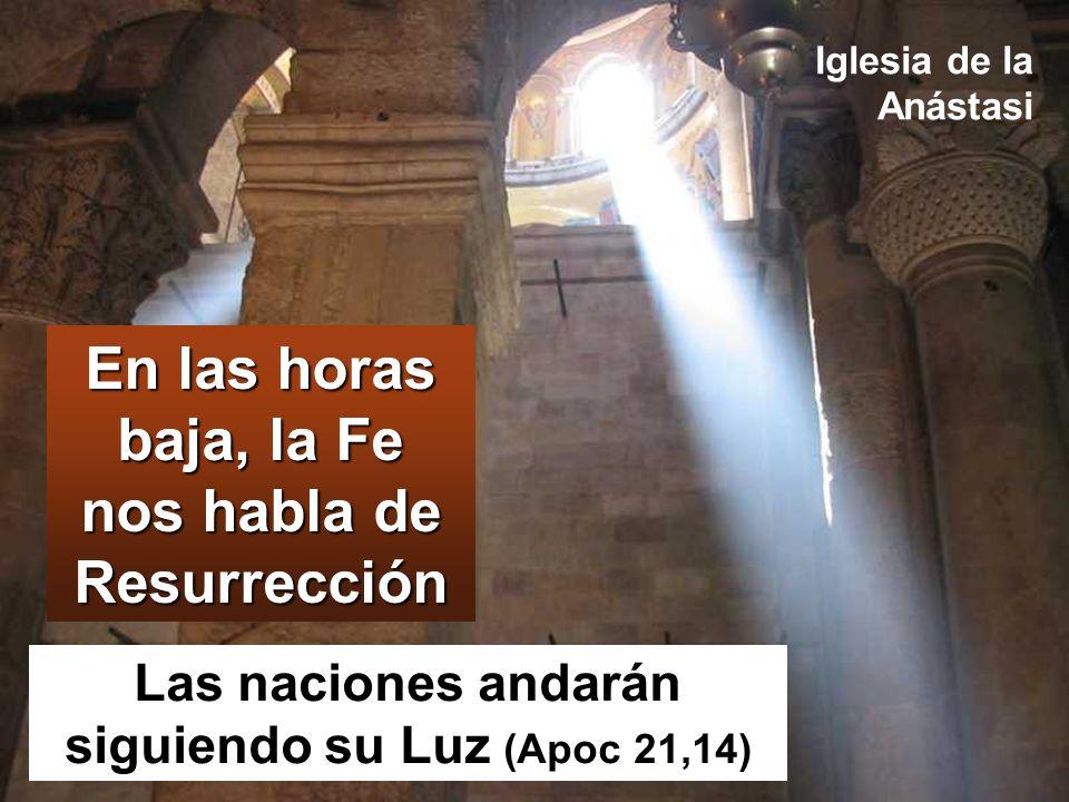 En las horas baja, la Fe nos habla de Resurrección