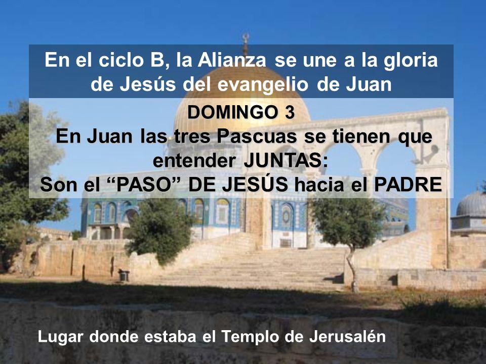 Son el PASO DE JESÚS hacia el PADRE