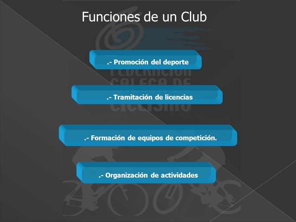 Funciones de un Club .- Promoción del deporte