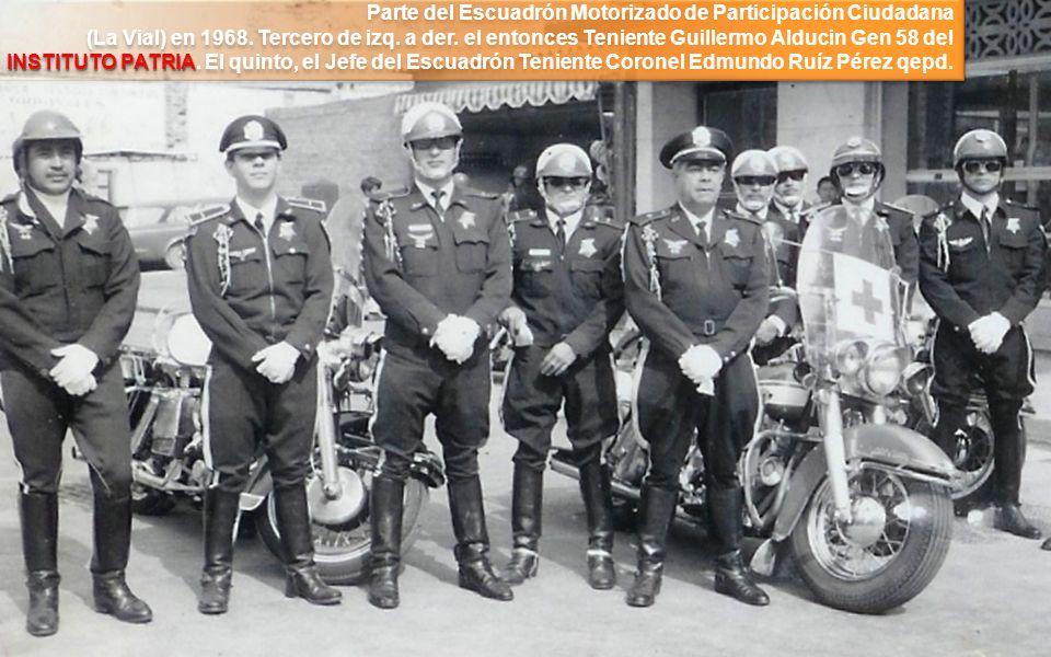 Parte del Escuadrón Motorizado de Participación Ciudadana (La Vial) en 1968.