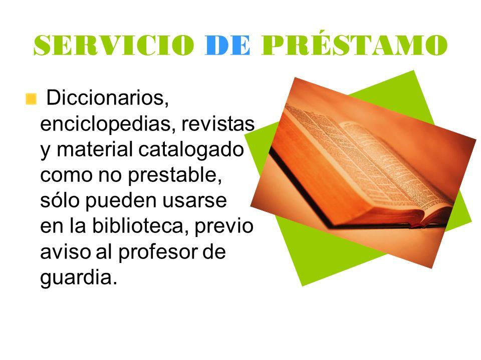SERVICIO DE PRÉSTAMO