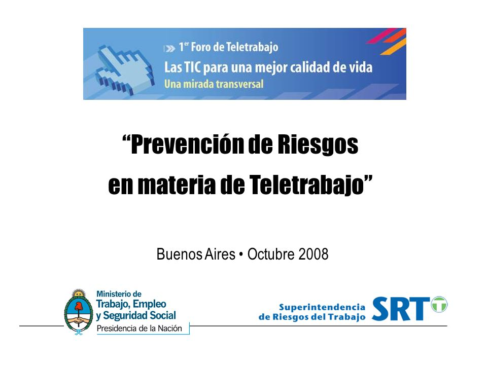 Prevención de Riesgos en materia de Teletrabajo