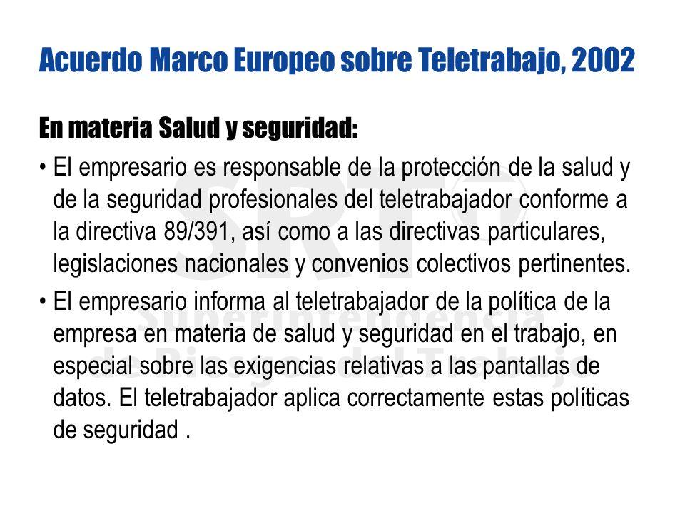 Acuerdo Marco Europeo sobre Teletrabajo, 2002