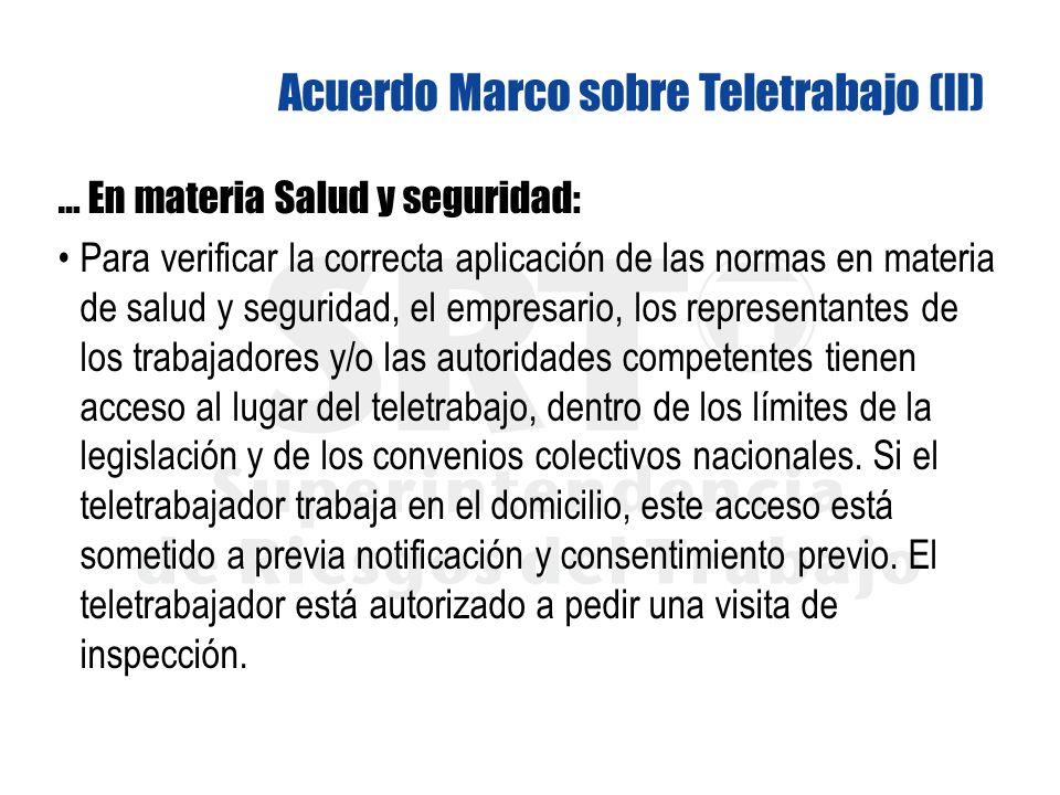 Acuerdo Marco sobre Teletrabajo (II)