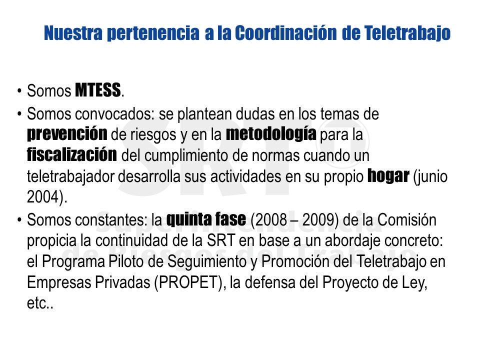 Nuestra pertenencia a la Coordinación de Teletrabajo